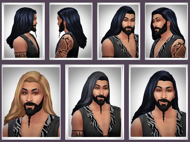 Sims 4 Khal Open Hair at Birksches Sims Blog