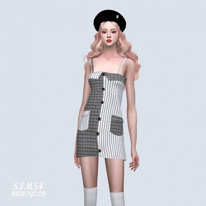 Two Tone Pocket Mini Dress (P) at Marigold image 7223 670x670 Sims 4 Updates