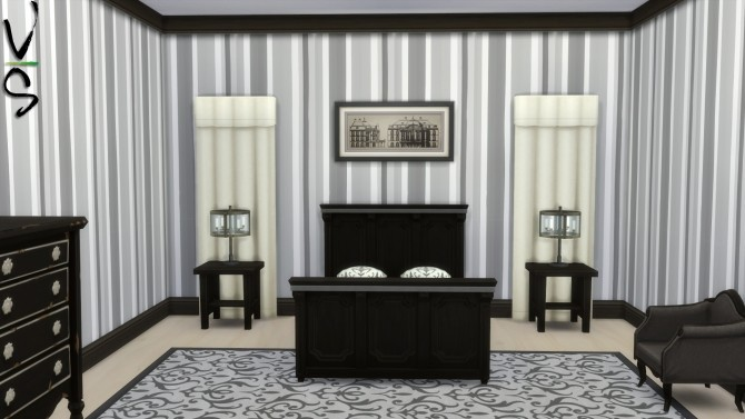 Sims 4 Suddenly Stripes Wallpaper by Veckah at Mod The Sims