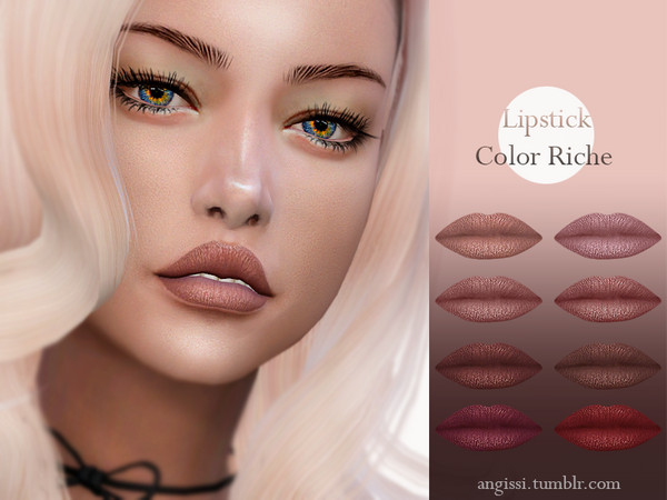 Sims 4 Lipstick Color Riche by ANGISSI at TSR