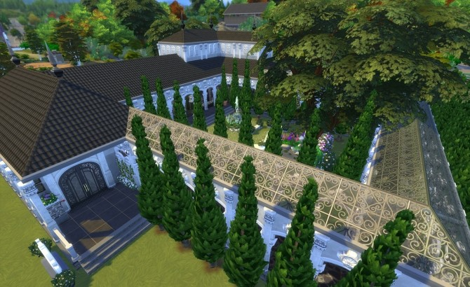 Sims 4 House of Leda Funeral Parlor by Alrunia at Mod The Sims
