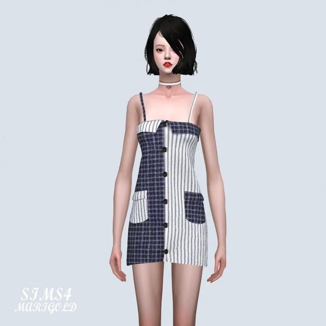 Two Tone Pocket Mini Dress (P) at Marigold image 7321 670x670 Sims 4 Updates