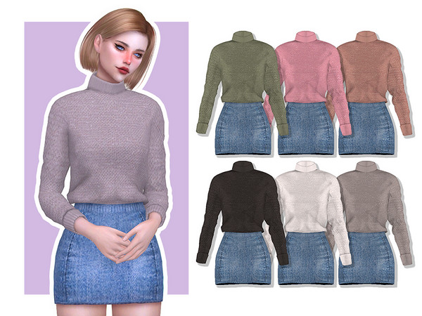 Sims 4 Pansy AF Outfit by Screaming Mustard at TSR