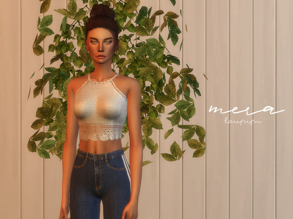 Mera crochet top by laupipi at TSR image 7510 Sims 4 Updates