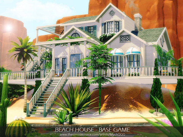Beach House Base Game by MychQQQ at TSR image 7512 Sims 4 Updates