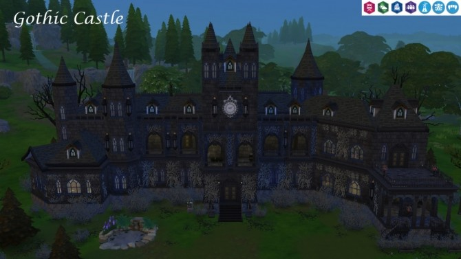 Gothic Castle no CC at Tatyana Name image 7515 670x377 Sims 4 Updates