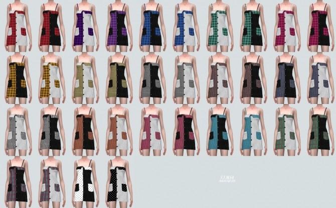 Two Tone Pocket Mini Dress (P) at Marigold image 7521 670x416 Sims 4 Updates