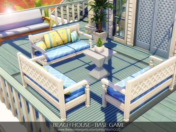 Beach House Base Game by MychQQQ at TSR image 7613 Sims 4 Updates