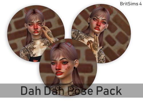 Sims 4 Dah Dah Pose Pack #1 at BritSims 4