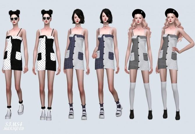 Two Tone Pocket Mini Dress (P) at Marigold image 7622 670x460 Sims 4 Updates