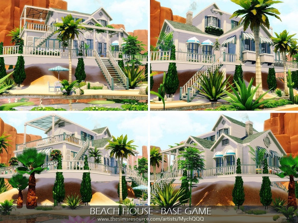 Beach House Base Game by MychQQQ at TSR image 7712 Sims 4 Updates