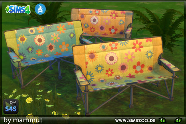 Sims 4 Hippie Camping seats by mammut at Blacky's Sims Zoo
