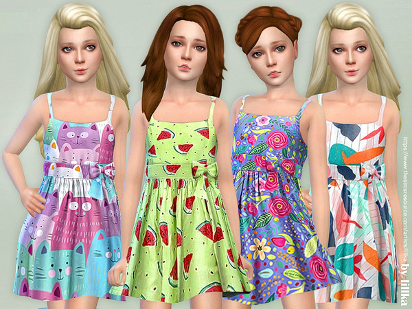 Sims 4 Girls Dresses Collection P125 by lillka at TSR