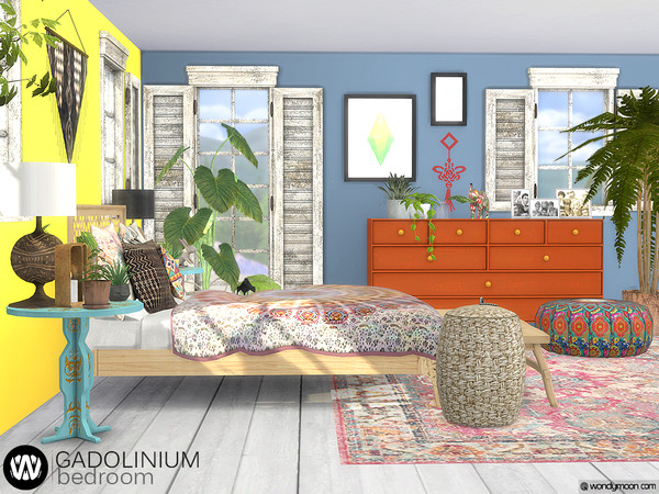 Gadolinium Bedroom by wondymoon at TSR image 781 Sims 4 Updates