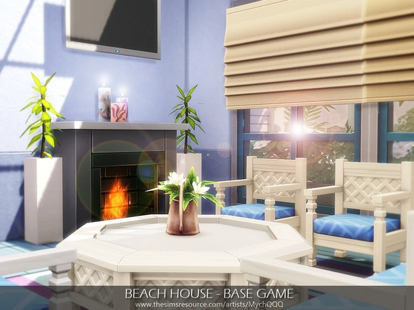 Beach House Base Game by MychQQQ at TSR image 7810 Sims 4 Updates