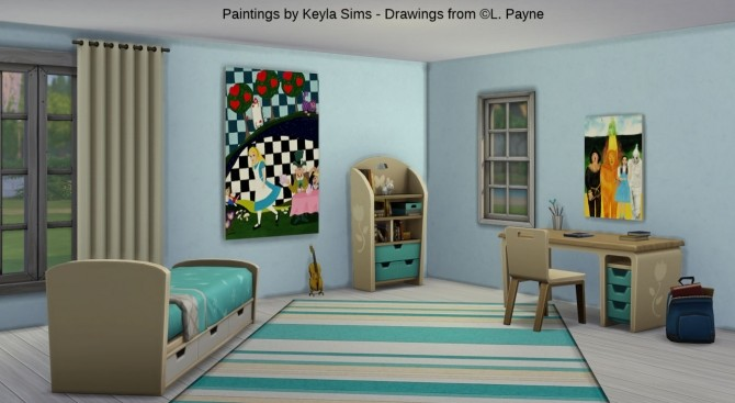 L. Payne Paintings set at Keyla Sims image 7817 670x367 Sims 4 Updates