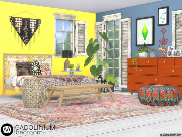 Gadolinium Bedroom by wondymoon at TSR image 791 Sims 4 Updates