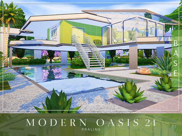 Modern Oasis 24 by Pralinesims at TSR image 7910 Sims 4 Updates