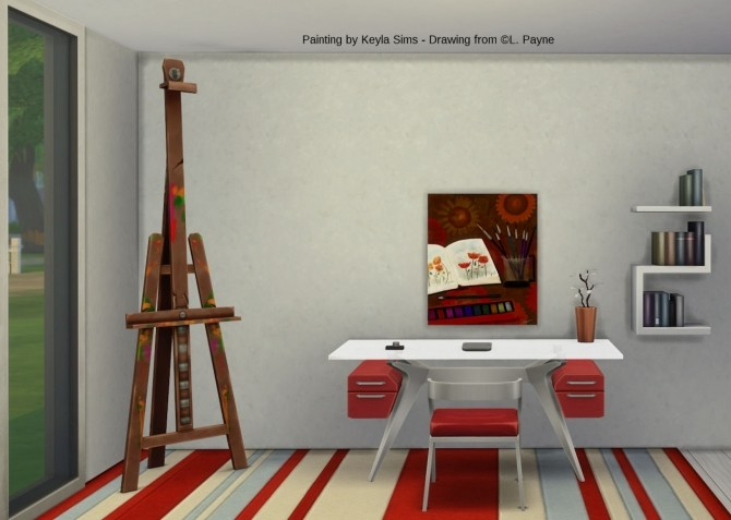 L. Payne Paintings set at Keyla Sims image 7918 670x477 Sims 4 Updates