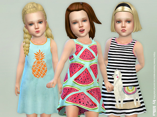 Toddler Dresses Collection P89 by lillka at TSR image 794 Sims 4 Updates