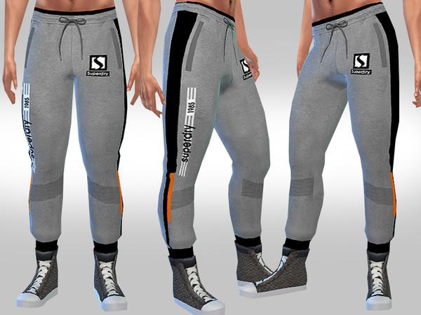 Sims 4 Men Athletic Track Pants by Saliwa at TSR