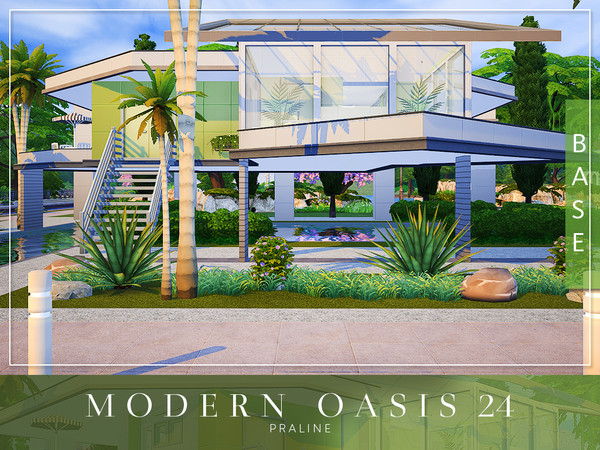 Modern Oasis 24 by Pralinesims at TSR image 8010 Sims 4 Updates