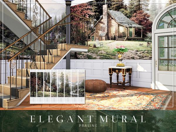 Elegant Mural by Pralinesims at TSR image 8104 Sims 4 Updates