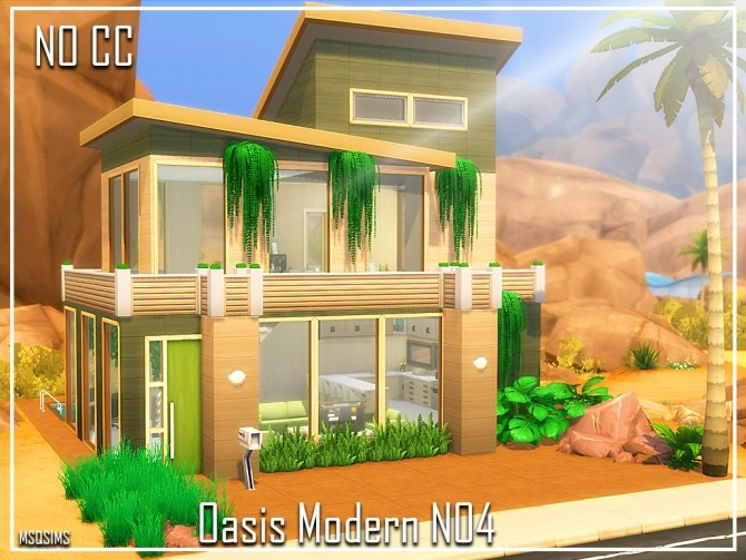 Oasis Modern House N04 at MSQ Sims image 8126 670x503 Sims 4 Updates