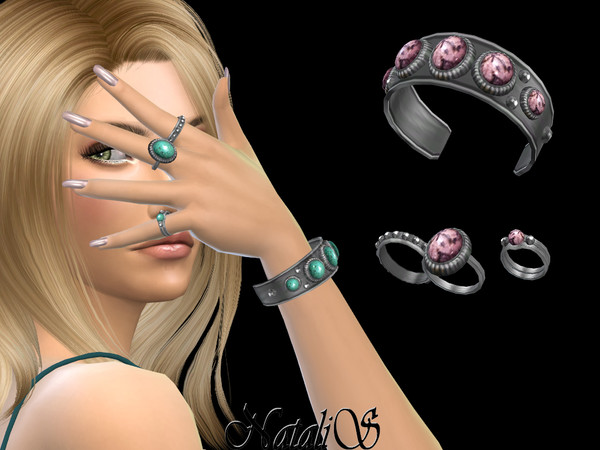 Sims 4 Boho bracelet with rings  left by NataliS at TSR