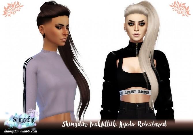 Sims 4 LeahLillith Kyoto Hair Retexture Naturals + Unnaturals at Shimydim Sims