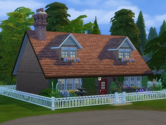 Sims 4 Miss Marples cottage at KyriaT's Sims 4 World
