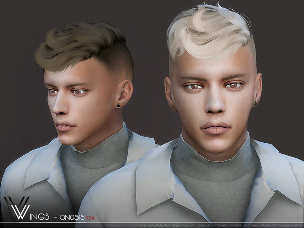 Sims 4 WINGS ON0515 hair by wingssims at TSR