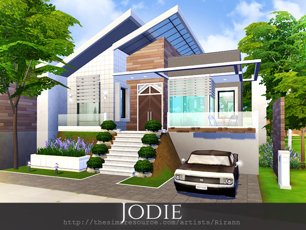 Sims 4 Jodie cosy cottage by Rirann at TSR