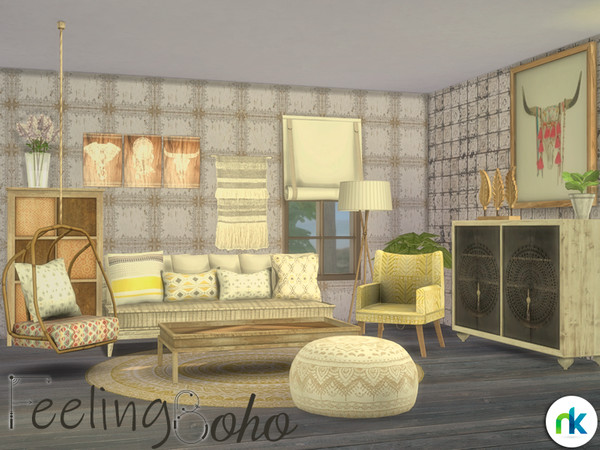 Sims 4 Feeling Boho Living by Nikadema at TSR