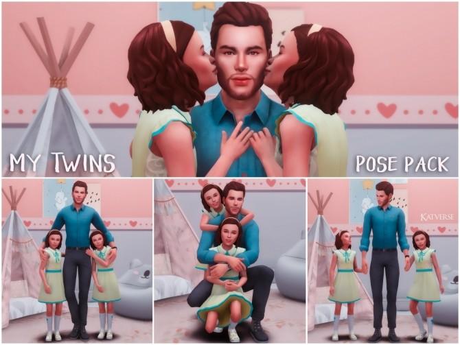 Sims 4 My Twins Pose Pack I at Katverse