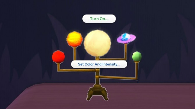 Sims 4 Animated Solar System Night Light and Deco by K9DB at Mod The Sims