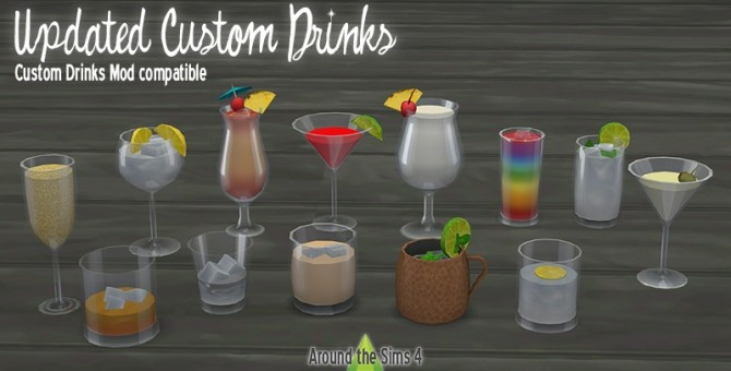 Sims 4 Updated custom drinks at Around the Sims 4