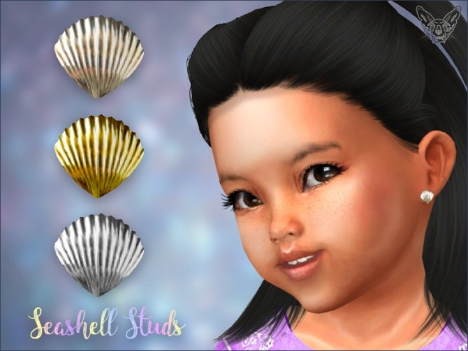 Sims 4 Seashell Studs For Toddlers at Giulietta