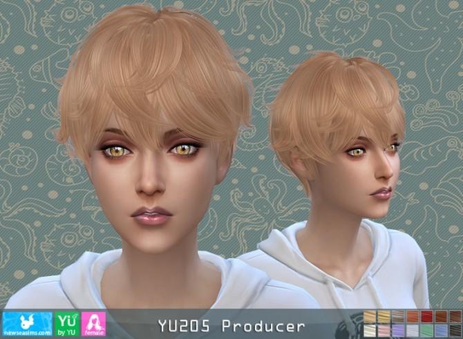 Sims 4 YU205 Producer hair F (P) at Newsea Sims 4