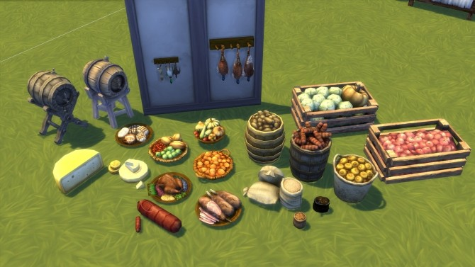 Medieval Market Stuff Pack By Satisim At Mod The Sims