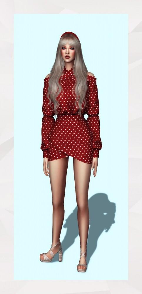 X Neckline Dress at Gorilla image 9011 483x1000 Sims 4 Updates