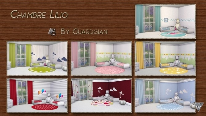 Sims 4 LILIO bedroom for toddlers by Guardgian at Khany Sims