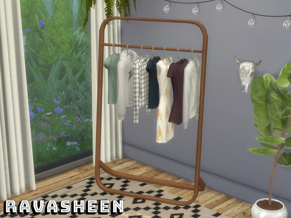 Dont Be Clothes Minded Clothing Rack by RAVASHEEN at TSR image 9107 Sims 4 Updates