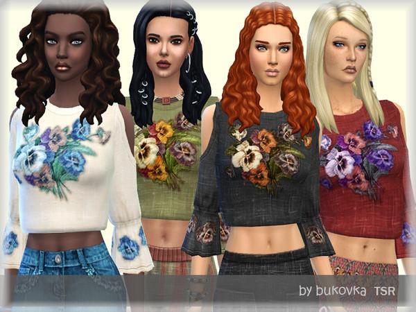 Sims 4 Shirt Boho by bukovka at TSR