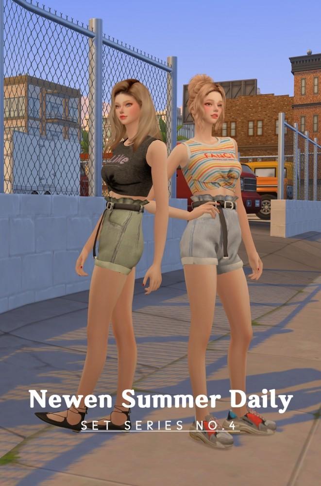 Sims 4 Summer Daily set series no.4 at NEWEN