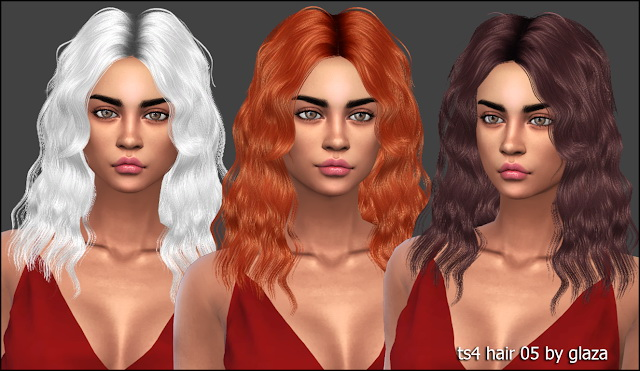 Hair 05 (P) at All by Glaza image 9222 Sims 4 Updates