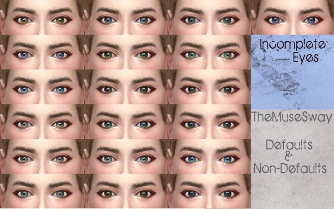 Sims 4 Incomplete Eyes by TheMuseSway at Mod The Sims