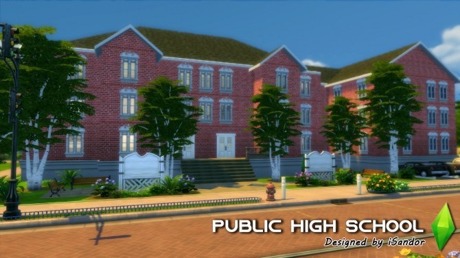 Sims 4 Public High School by iSandor at Mod The Sims