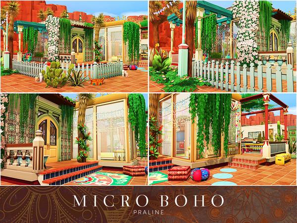 Sims 4 Micro Boho house by Pralinesims at TSR