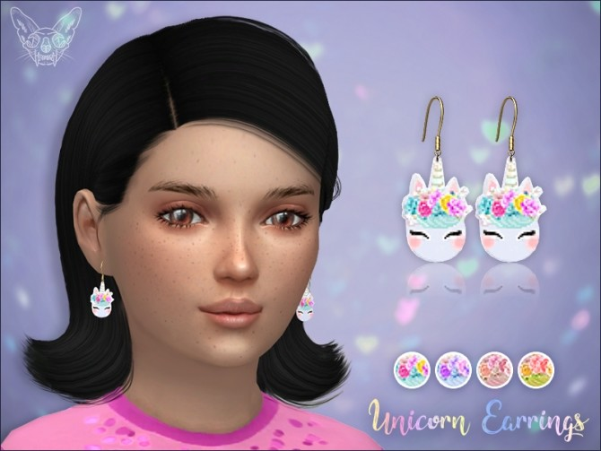 Sims 4 Unicorn Earrings For Kids at Giulietta